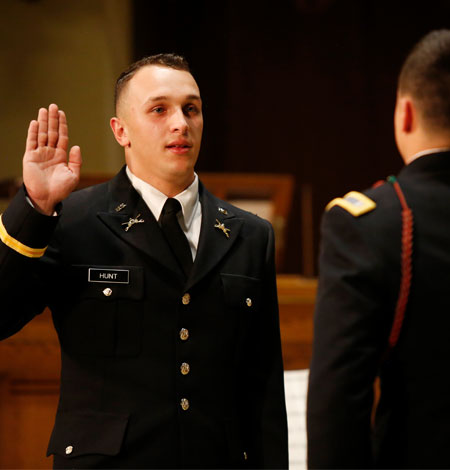 Lehigh University ROTC cadet Ryan Hunt '18