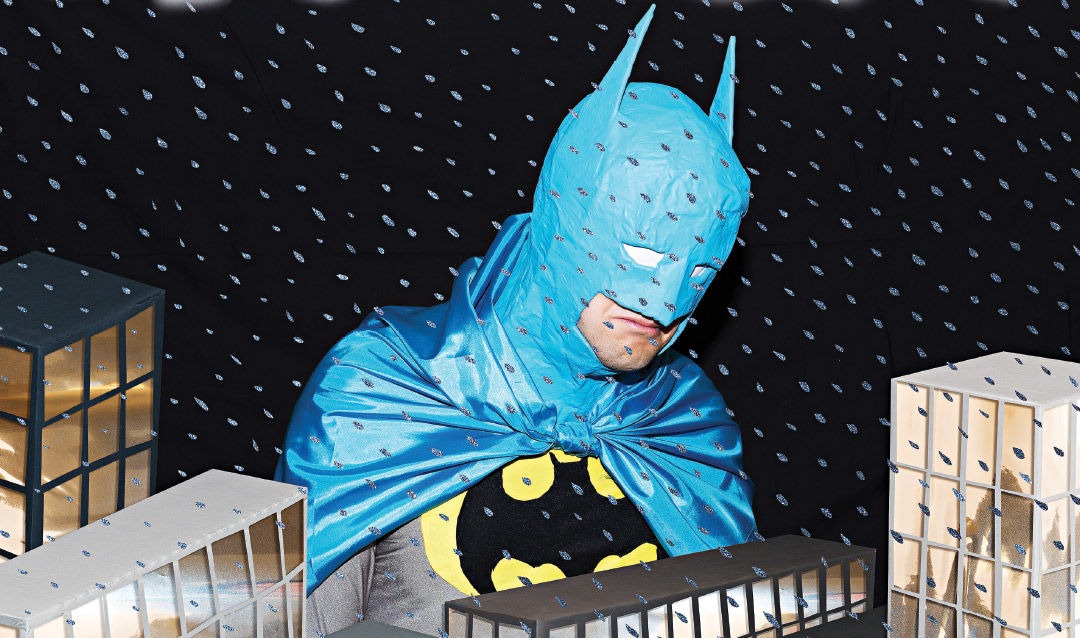 Batman crying in the rain