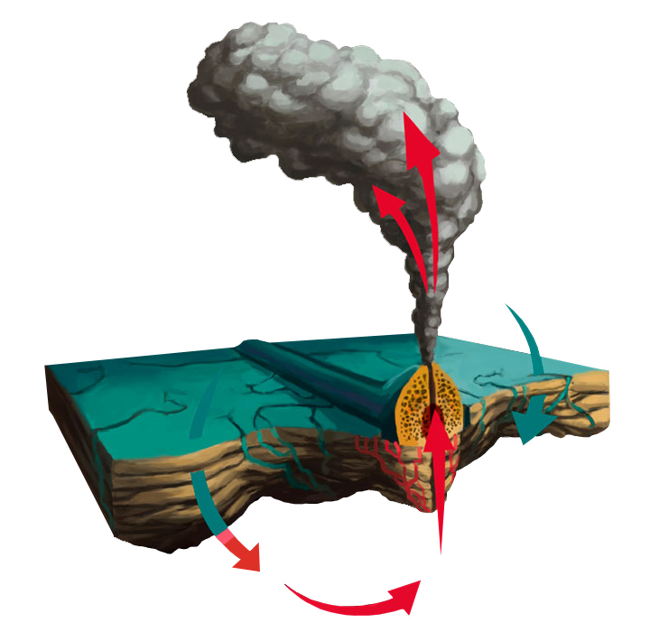 Illustration of Hydrothermal vent
