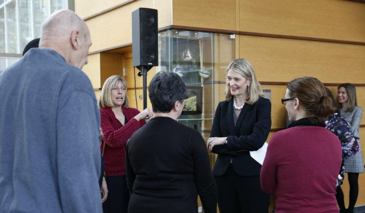 Dean Whitney P. Witt meets members of the Lehigh community