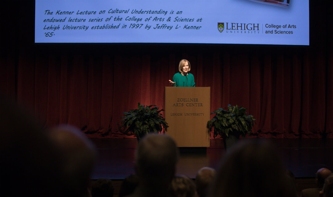 Judy Woodruff delivers the Kenner Lecture at Lehigh University.