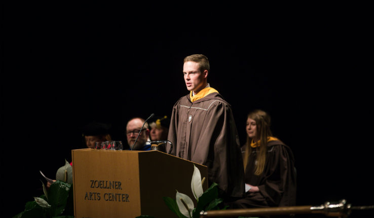 Ryan Malloy speaks at Lehigh Honors Covocation