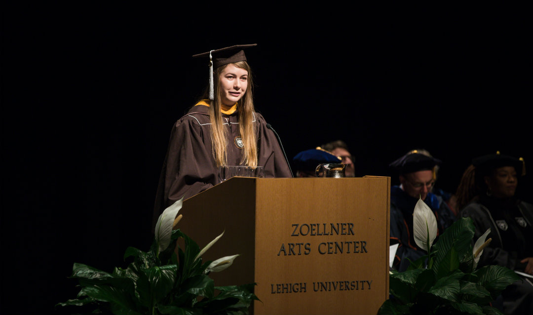 Sarah Stankus Speaks at Lehigh University Honors Convocation
