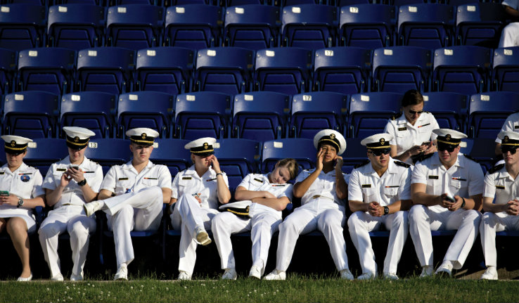 Cadets in chairs