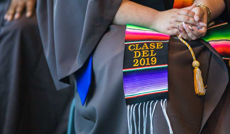 Close-up of 2019 Kente cloth at Lehigh University