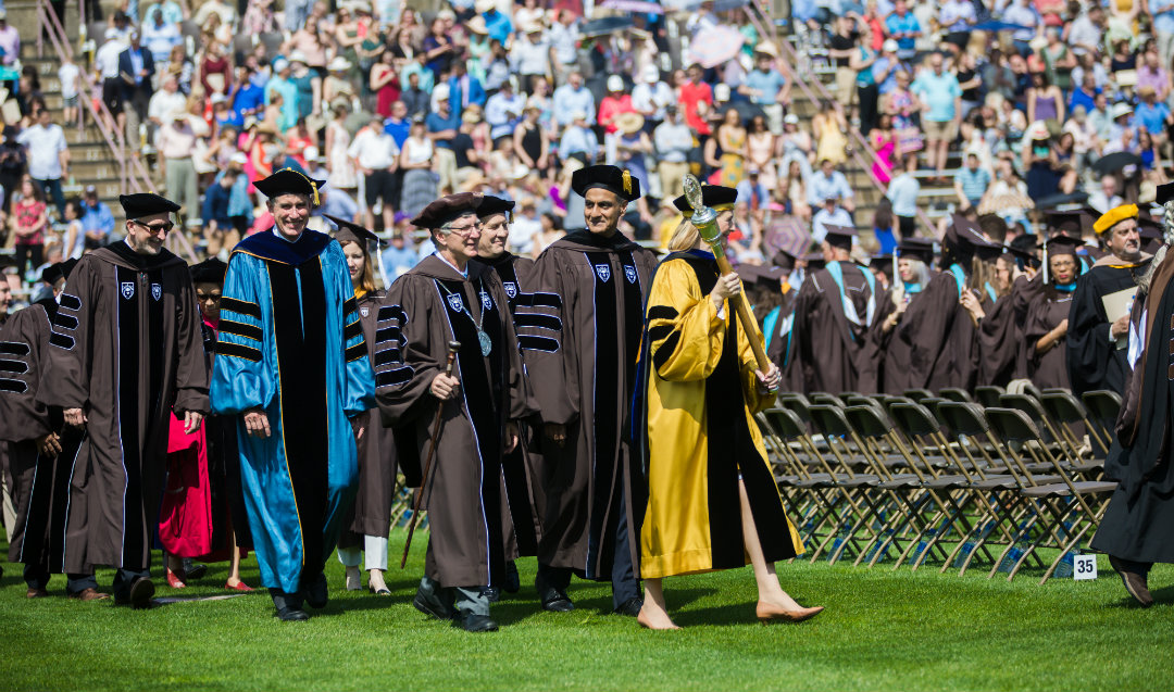 Administrators enter Lehigh University commencement