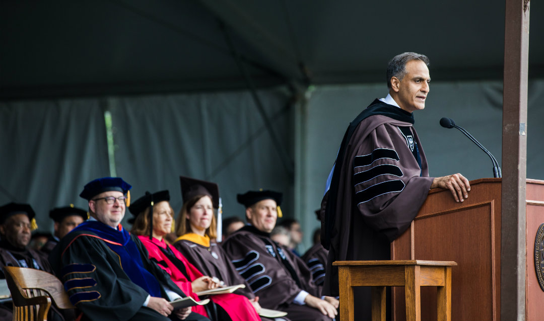 Richard Verma speaks at Lehigh University commencement