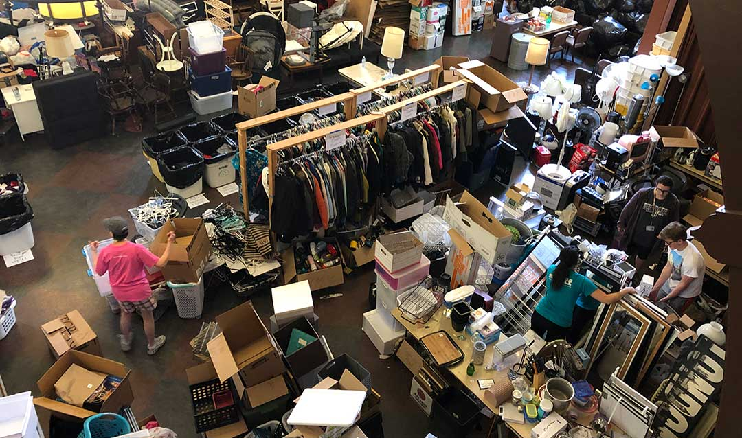 Donations and volunteers for Lehigh University's great south side sale