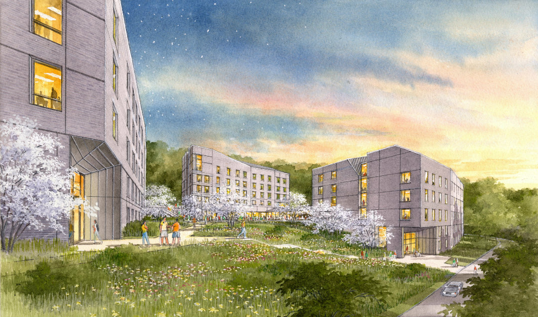 Rendering of Hitch and Maida Houses at Lehigh University