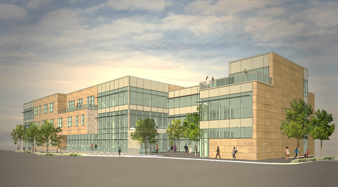 Rendering of planned College of Business building