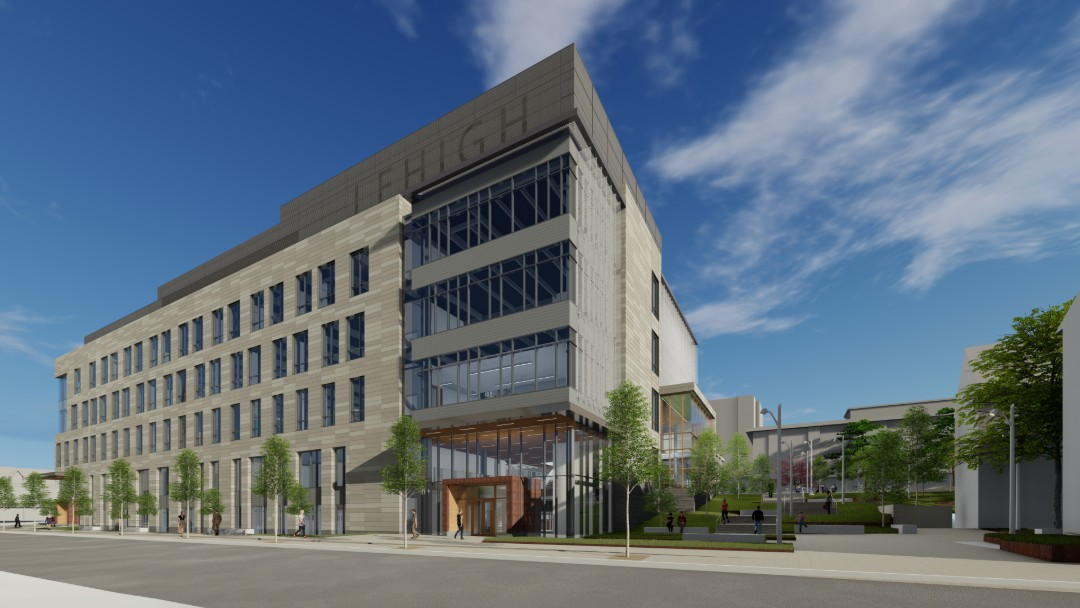 rendering of Lehigh's Health, Science & Technology Building