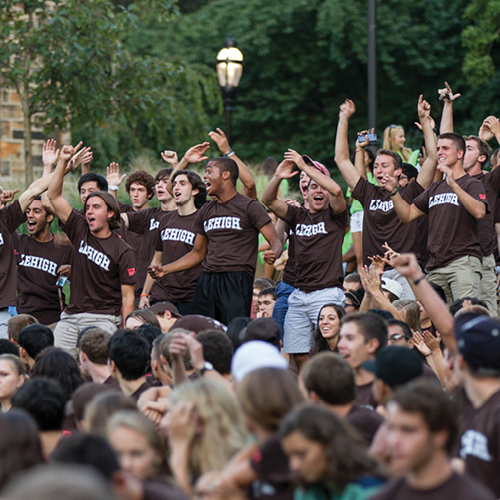 Students in Lehigh T-Shirts