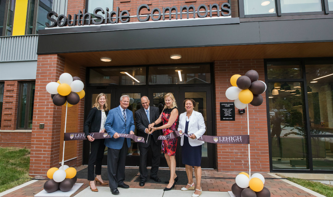 Ribbon cutting for SouthSide Commons