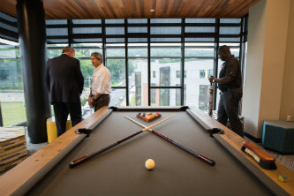 Inside the SouthSide Commons pool table area