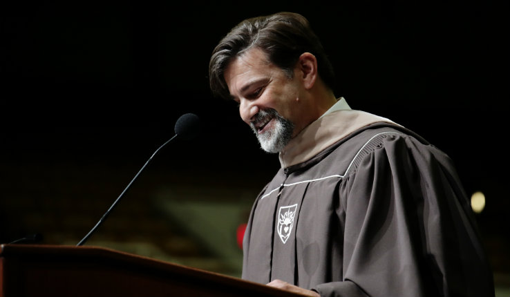 Lehigh professor Joe Manzo delivers keynote address at 2019 academic convocation