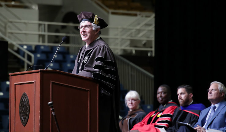 Lehigh University President John Simon speaks at 2019 academic convocation