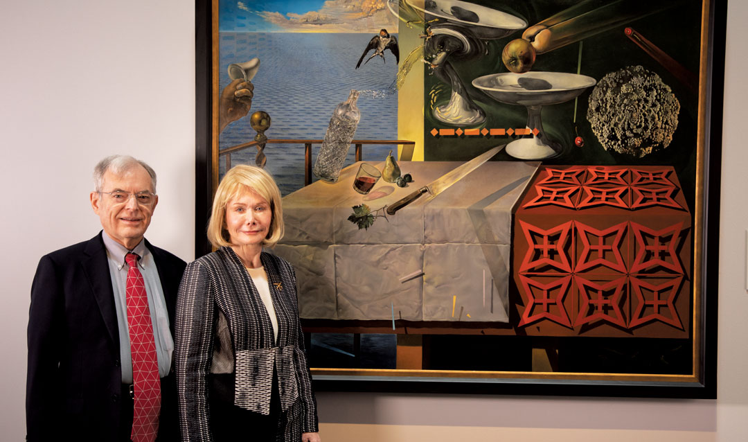 Brad Morse and his wife, Mary Ann, in front of the Nature Morte Vivante