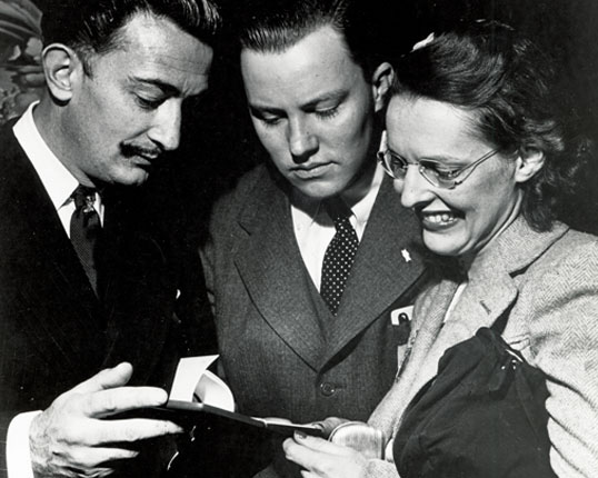 Reynolds and Eleanor Morse developed a close friendship with Salvador Dali.