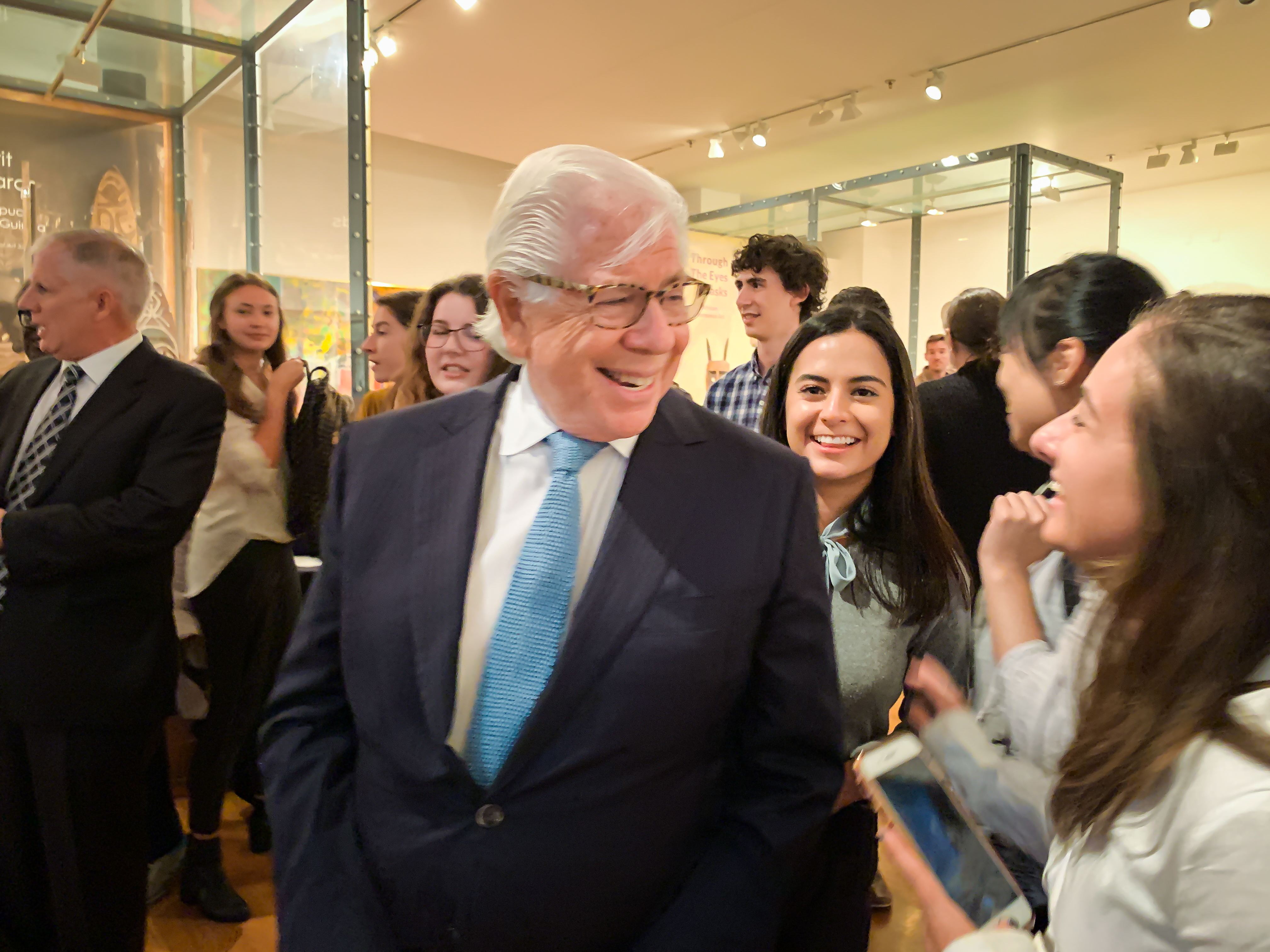 Carl Bernstein meets with Lehigh students