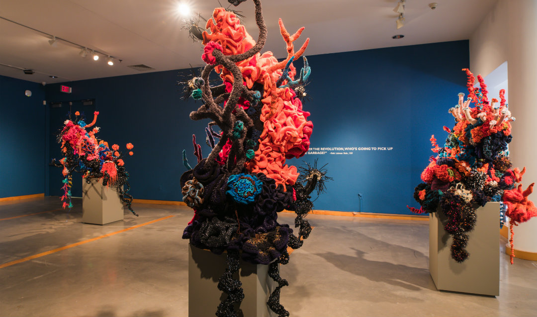 The crochet coral reef displayed in LUAG