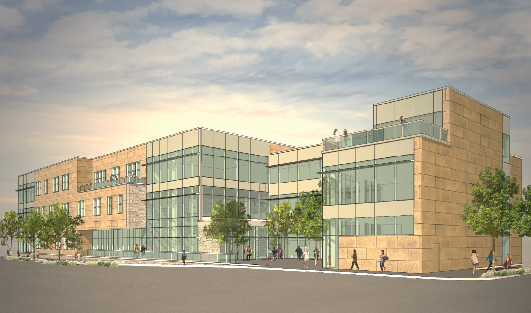 Rendering of new College of Business building