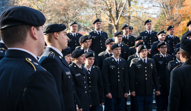 Flag ceremony at Lehigh on Nov. 4