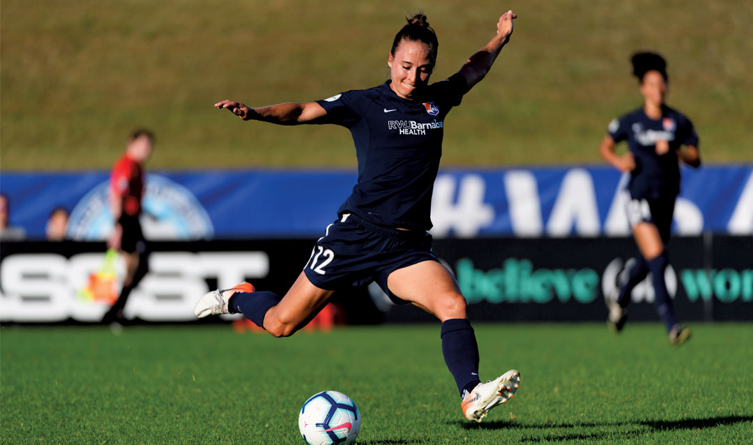 Gina Lewandowski with Sky Blue FC