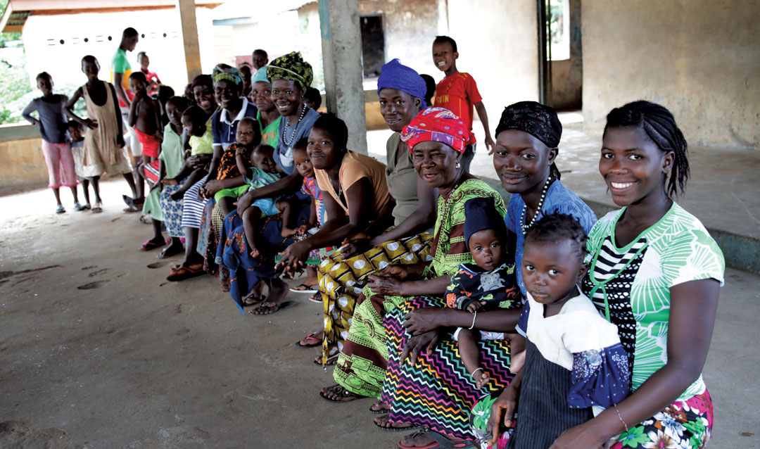 Women and children in Sierra Leone