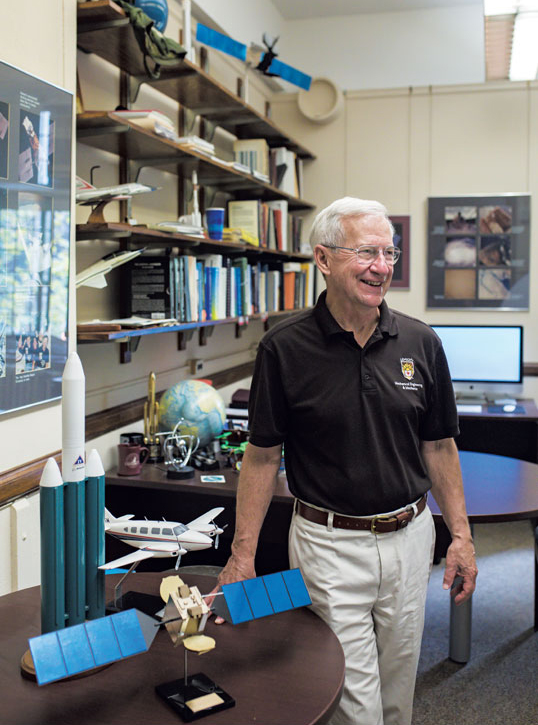 Terry Hart in his office at Lehigh