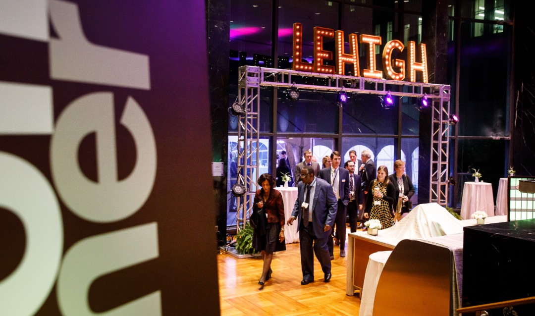 Guests enter Lehigh University Leadership Recognition Awards Dinner