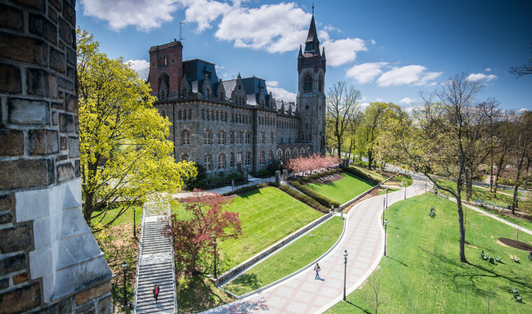 View of the UC from Linderman Library