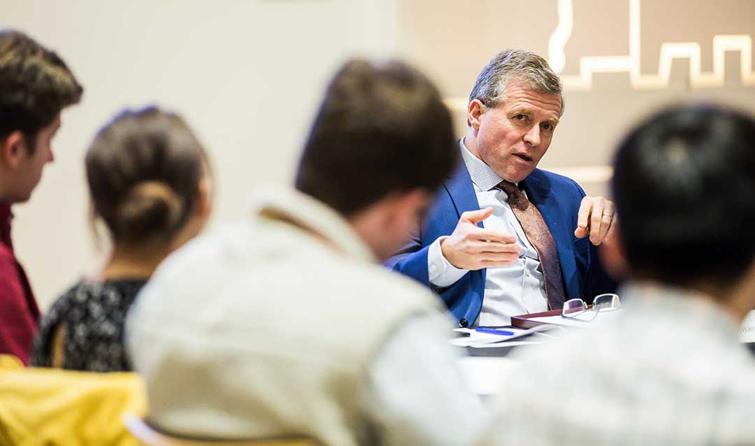 Former U.S. Rep. Charlie Dent speaks to students at Lehigh University