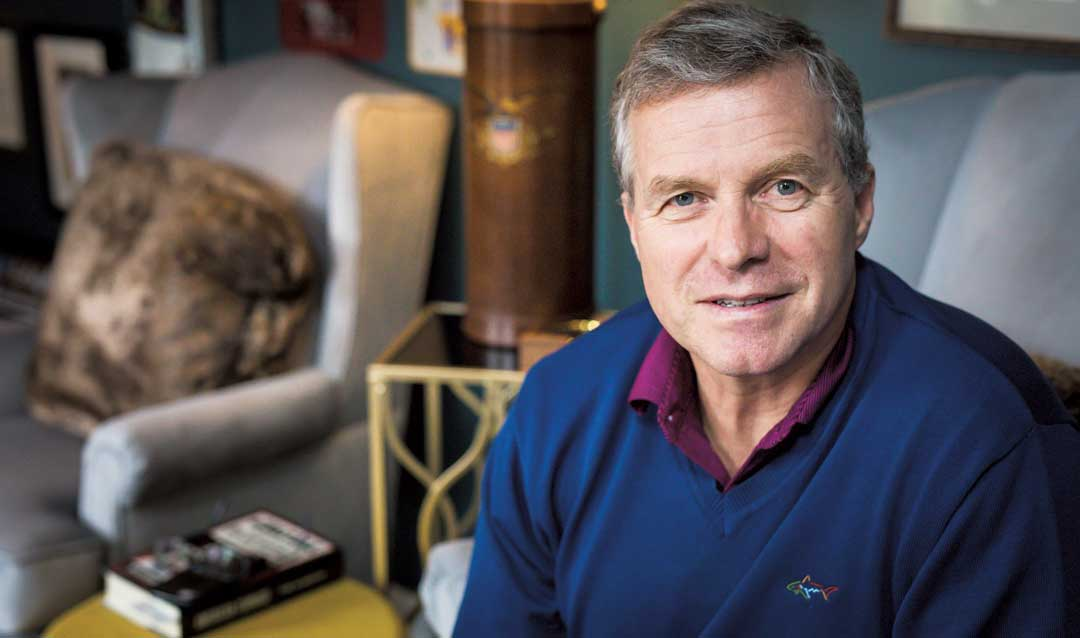 Former U.S. Rep. Charlie Dent at his home
