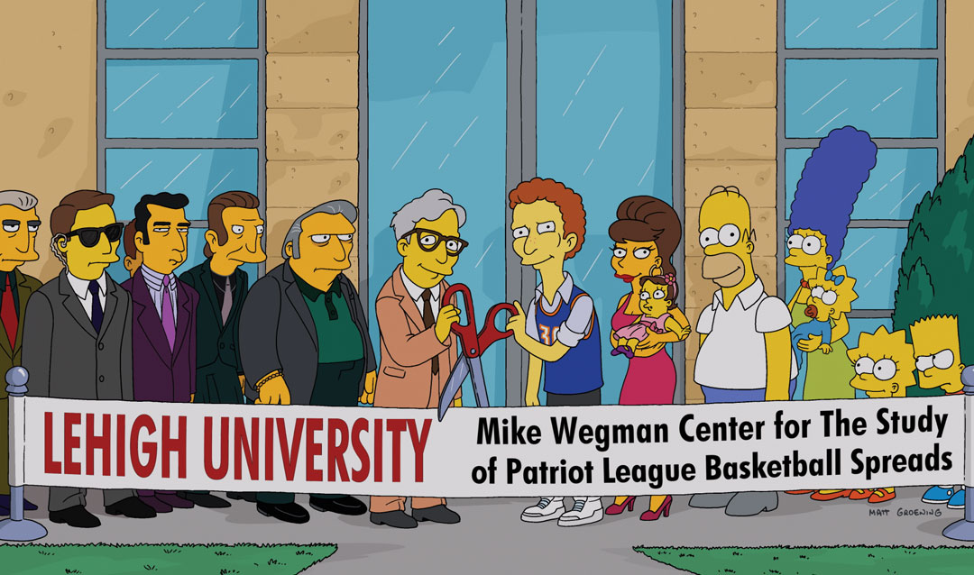 A scene from The Simpsons showing Lehigh ribbon cutting