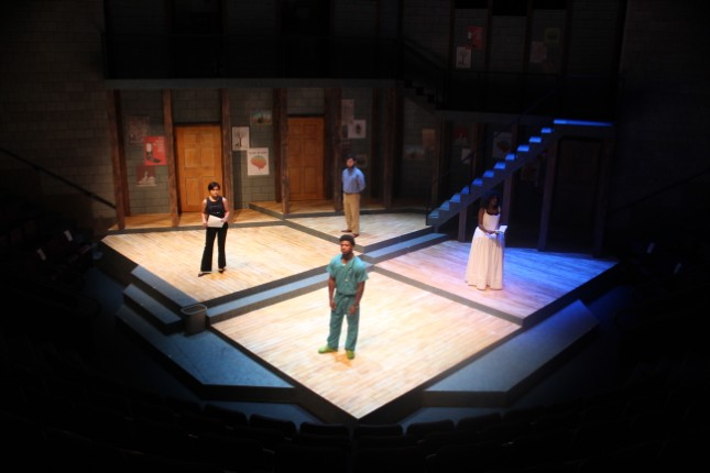 Set design of the play 'Smart People' by Lydia Diamond