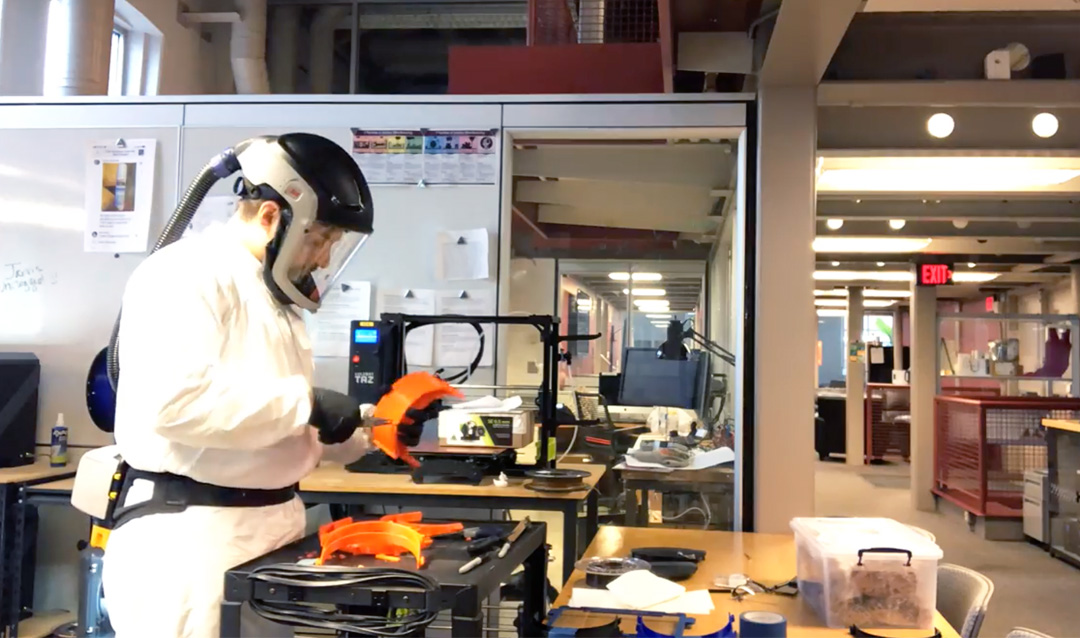 Lehigh is 3D printing face shields for area hospitals
