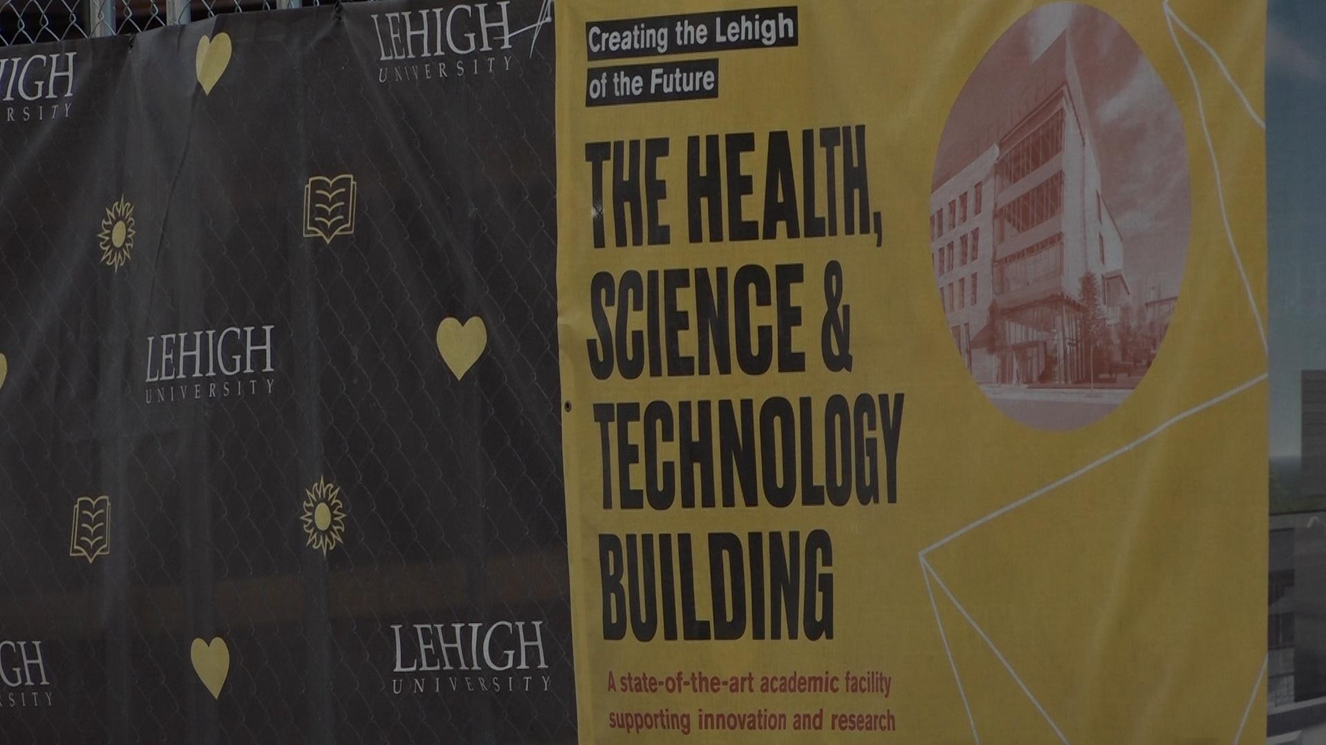 Construction on the Health, Science and Technology building