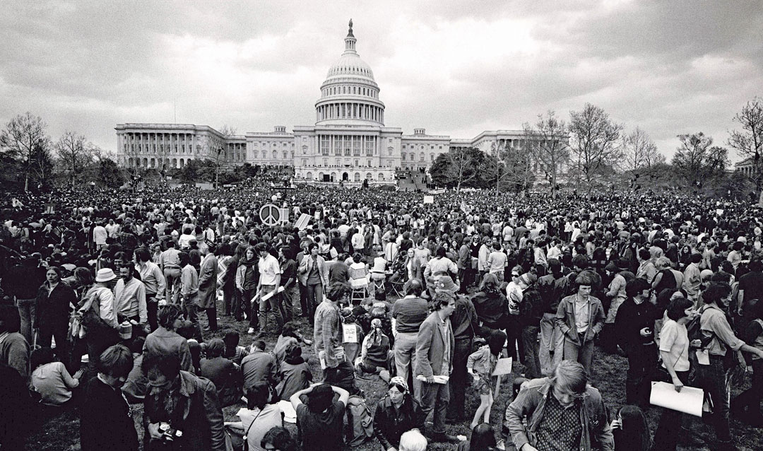 Demonstrators in front of the U.S. Capitol, April 1971