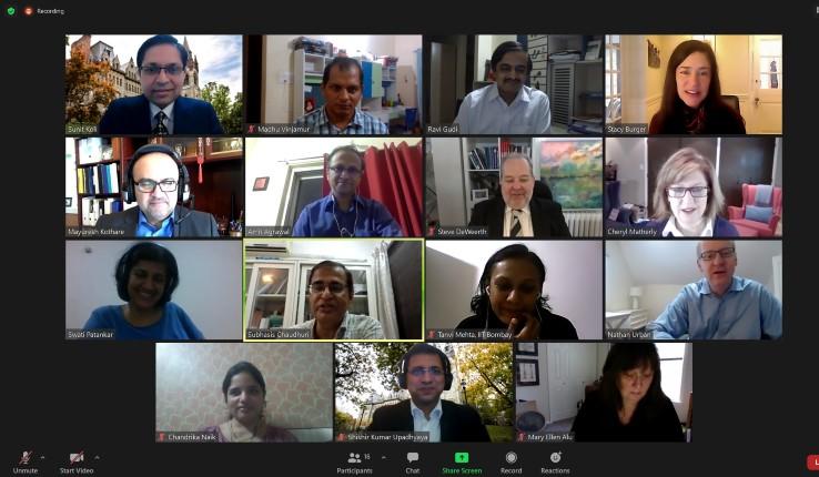 Zoom meeting on partnership with IIT Bombay