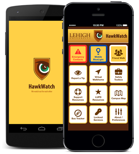 Hawk watch app on phones