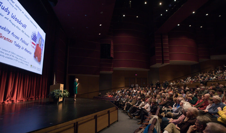 Judy Woodruff delivers the Kenner Lecture at Lehigh University