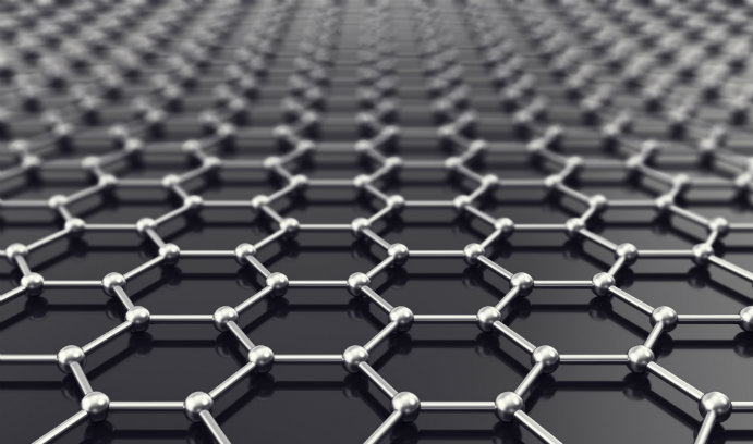 Depiction of the lattice-like structure of graphene